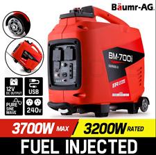 3,700W Petrol Inverter Generator 240v Outlets Portable Camping Petrol USB Socket