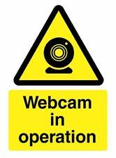 Webcam In Operation Warning *Warning Laminated Sign* Beware