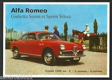 Alfa Romeo Giulietta Sprint - cartolina