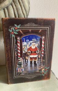 CHRISTMAS SANTA KEEPSAKE BOOK BOX HOLIDAY DECOR