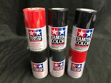 Lot of 6 Colors  ~ Tamiya Color Paint for Plastics ~ 100ML ~  (Lot 3)