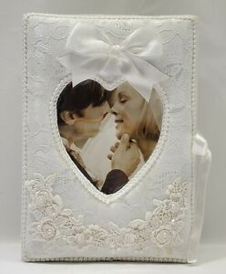 Folding Photo Album With Front Picture Insert~Wedding,  Anniversary,  Family