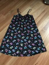 Ladies Black Floral Sleeveless NightDress  No Brand  - Size 10/ 12 Cheap