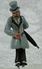 Zinnfigur Herr mit Schirm und Zylinder, passend zur LGB