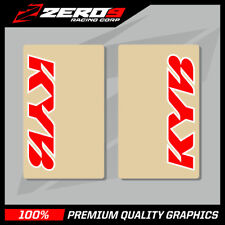 KYB UPPER FORK DECALS MOTOCROSS GRAPHICS MX GRAPHICS CLEAR RED