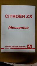 Manuale Originale CITROEN ZX MECCANICA INDICE DI FATTURAZIONE Tempario anni '90
