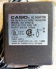 Casio AD-4150 Power Supply AC Adapter Output 4.5V 1A (EUC)