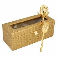 """24K Gold Dipped Natural Rose 6"""" With Beautiful Gift Box Men & Women Best gift"""