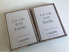 2 Lancome La Vie est Belle Eau de Parfum samples 0.04 oz / 1.2ml x2