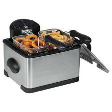 Elite Platinum 4Qt. Dual Deep Fryer with 3 Baskets