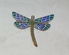 DRAGONFLY - LAPEL PIN BADGE - GLITTER EFFECT DAMSELFLY WEDDING DRAGONFLIES DB-33