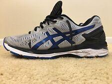 Asics Gel Kayano 23, Men's Running Shoes, Size US 12 M (D), Silver/Blue, T646N