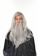 Dumbledore Gandalf Wizard Old Man Wig & Beard Set Hobbit Old Man Halloween