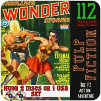 Thrilling Wonders Stories pulp magazine set, Action, Science Fi, space adventure