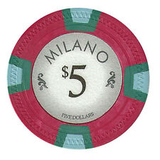 100 Red $5 Milano 10g Clay Casino Poker Chips New - Buy 4, Get 1 Free