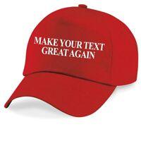 Make Your Text Great Again TRUMP Personalized Baseball Cap Custom Printed Hat