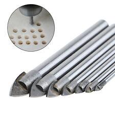 7 Pcs 3/4/5/6/8/10/12mm Triangle Tip Glass Drill Set Tile Cermic Drill Bit NEW