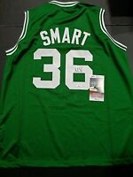 Marcus Smart Boston Celtics Autographed Custom Style Jersey Coa-JSA