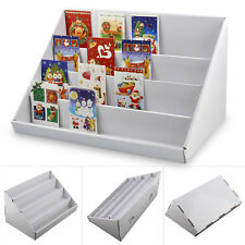 2 X 4 TIER WHITE COLLAPSIBLE CARDBOARD GREETING CARD DISPLAY STANDS