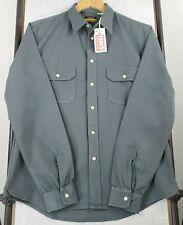 New LVC LEVI'S Medium Tab Twills Shirt Gray Button Up 1950s Workwear Mens NWT