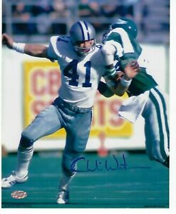 Charlie Waters Mounted Memories Authenticed 8 x 10 Photo - Dallas Cowboys