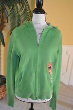 Lucky Brand Green Butterfly Embroidered Hoodie Sz. L