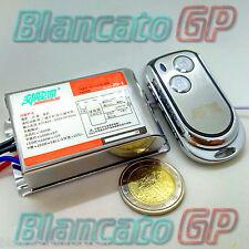 INTERRUTTORE WIRELESS LAMPADE 220V 1 CANALE TELECOMANDO ACCIAIO INOX LED switch