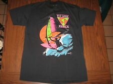 Vtg Nos 80s Big Wave Wind Surfing Co. t-shirt Black 1988 mens size Large