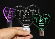 Personalized Anniversary Night Light - Heart LED Night Light -Anniversary Gift