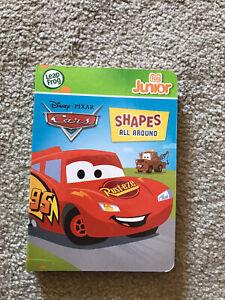 DISNEY PIXAR CARS SHAPES ALL AROUND Leap Frog Tag Junior Book Pal Reader