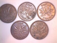 5 -- 1947 AND 10 -- 1955 CANADA OLD  CENTS