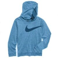 New Nike Little Boys Dri-Fit Swoosh Logo Hoodie Choose Size MSRP $28.00 Blue