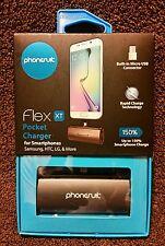 "PhoneSuit ""Flex XT"" Pocket External Battery Charger For Smartphones - Black  NIB"
