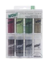 American Crafts 8-Pack WOW Extra Fine Glitter, Christmas 1