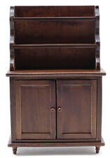 Miniature Dollhouse Hutch Walnut 1:12 Scale New