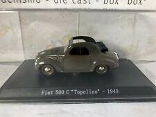 """DIE CAST """" FIAT 500 C TOPOLINO - 1949 """" + TECA RIGIDA BOX 2 SCALA 1/43"""