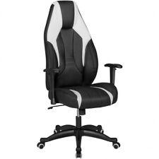 silla de oficina cuero artificial silla ejecutiva silla giratoria blanco y negro