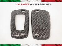 GUSCIO COVER CHIAVE CARBON LOOK BMW SERIE 1 3 5 X1 X3 X5 X4 Z4 SCOCCA KEY SHELL