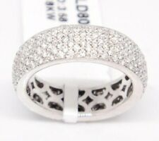 4.68CT Micro Pave Round Cubic Zirconia Eternity Engagement & Wedding Band Ring