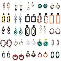 Women Statement Jewelry Fashion Acrylic Dangle Drop Earrings Pendant Geometric