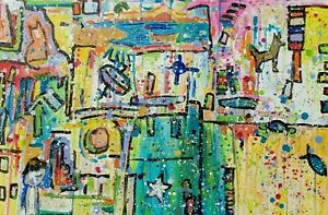 Outsider Expressionist Abstract Take me to Your Pilot by Ehren Snyder