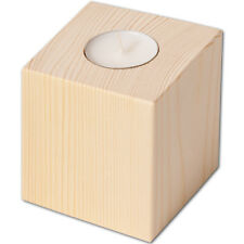 Teelichthalter Kerzenständer Kerzenhalter quadratisch  8 cm - aus Buchenholz
