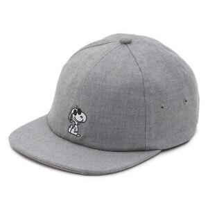 VANS x PEANUTS Snoopy Mens Hat (NEW) Joe Cool JOCKEY CAP Grey Gray FREE SHIPPING
