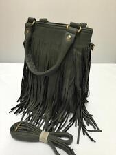 New Grey Tassel Hobo Style Ladies Twin Handle Clutch Bag Handbag /Cross Body 722