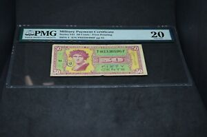 PMG Graded Military Payment Certificate Series 541 50 Cent Bankote VF20