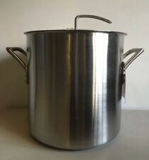 Meyer Commercialware Stainless Steel Stockpot With Lid, 36cm, 36L
