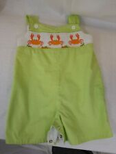 Baby Boy Remember Nguyen Green Gingham with Orange Crab One Piece Size 18 Months