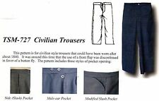 MEN'S MID 19TH C. CIVILIAN TROUSERS Pattern Timeless Stitches TSM-727