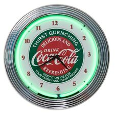 Coca-Cola Evergreen Neon Clock Retro Soda Fountain Soda Pop Soft Drink Decor 15