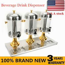 Commercial 3 Tanks 24L Frozen Juice Beverage Refrigerated Dispenser Cold Drink